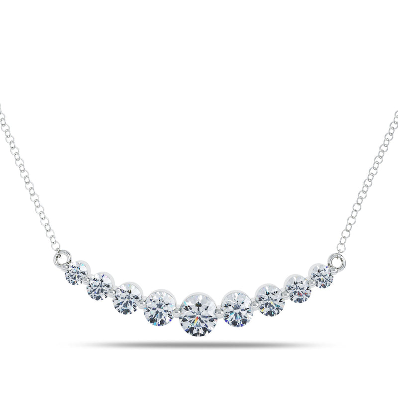 Perrywinkle's  1785 Classics Diamond Graduated Necklace In 14K White Gold