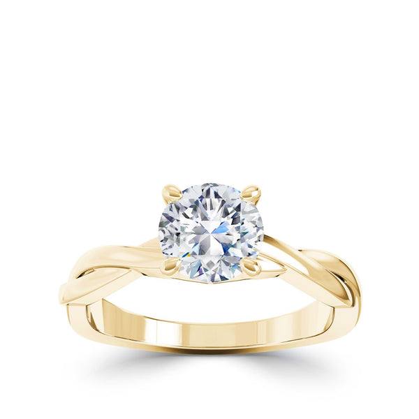 Perrywinkle's Vintage Diamond Engagement Ring In 18K Yellow Gold