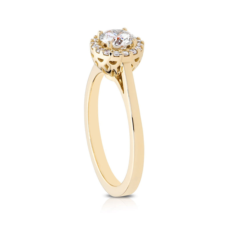 Perrywinkle's Halo Pierced Gallery Engagement Ring In 18k Gold