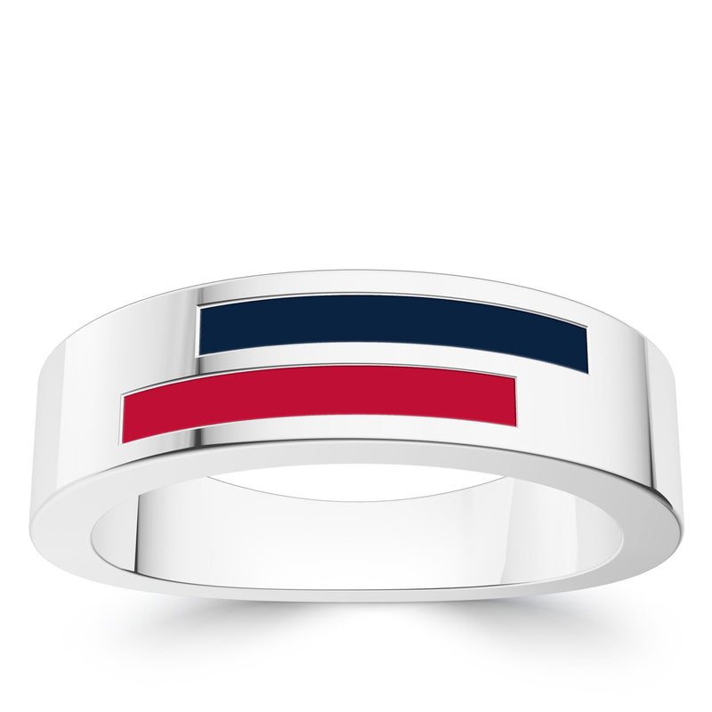 Atlanta Braves Asymmetric Enamel Ring In Sterling Silver