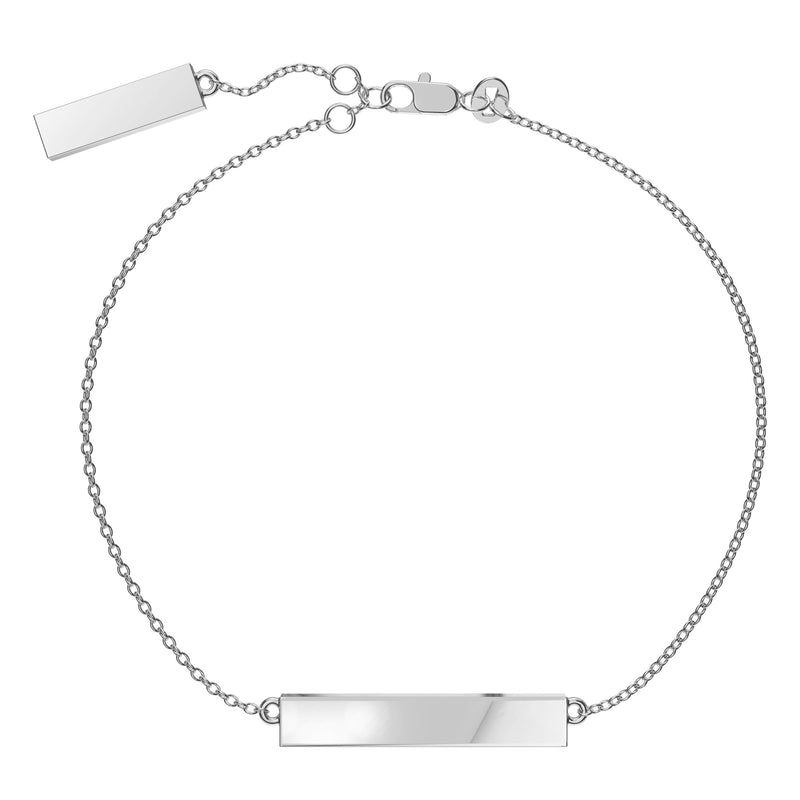 Kansas City Royals Diamond Bar Bracelet In Sterling Silver