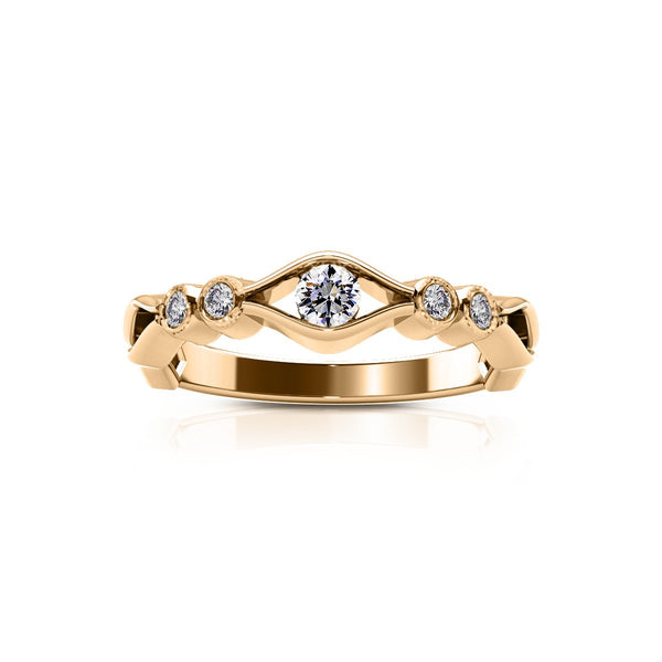 Perrywinkle's Easton Diamond Open Wave Ring In 14K Yellow Gold
