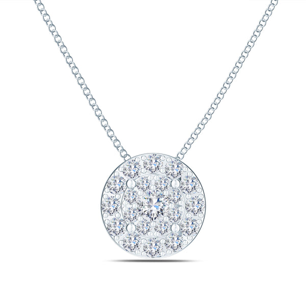 Perrywinkle's Easton Diamond Cluster Pendant In 14K White Gold