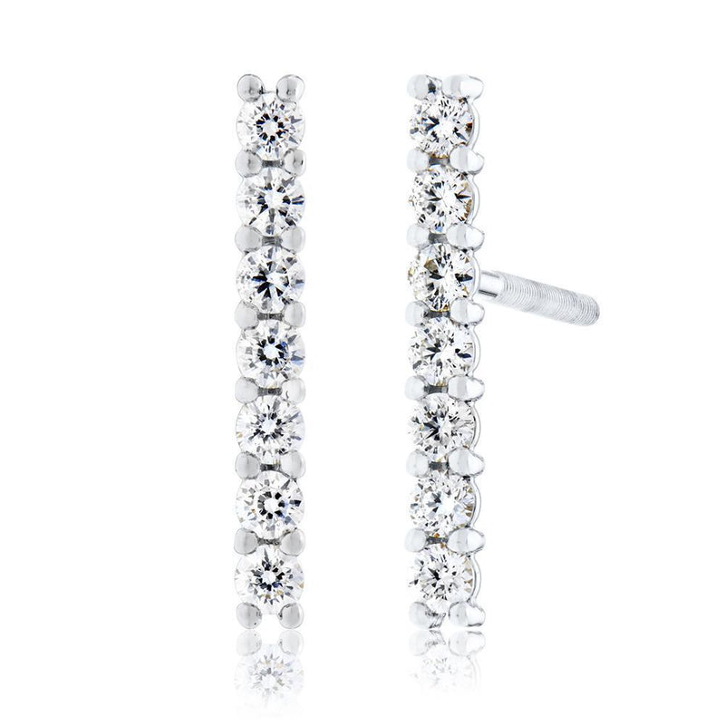 Perrywinkle's  1785 Classics Diamond Bar Earring In 14K White Gold