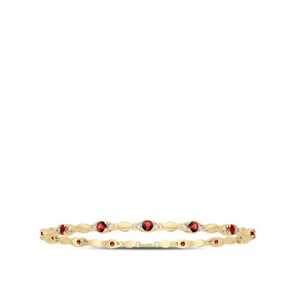 Perrywinkle's  1785 Classics Diamond Straight Line Bracelet In 14K Yellow Gold