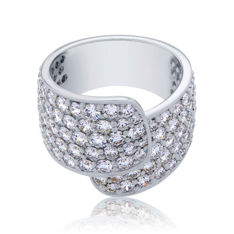 Perrywinkle's Easton Diamond Pave Wrap Ring In 14K White Gold