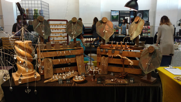 Kristin Ellis jewelry booth at Handmade Toledo Mini Maker's Mart