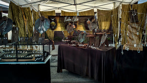 display of handmade jewelry by Kristin Ellis at the Tremont Arts and Cultural Festival in Cleveland Ohio