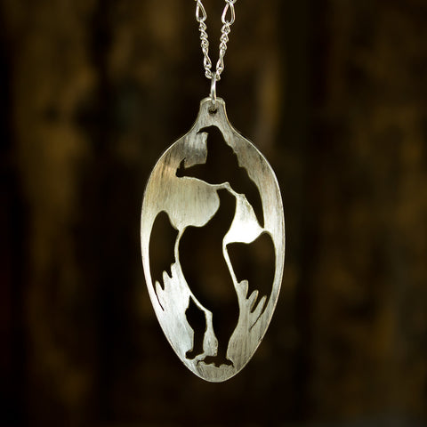 Dragon Spoon Necklace - Original Jewelry by Kristin Ellis