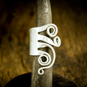 Fork Ring with Flowers - Original Jewelry by Kristin Ellis