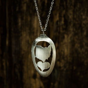 Heart Ohio Spoon Necklace - Original Jewelry by Kristin Ellis