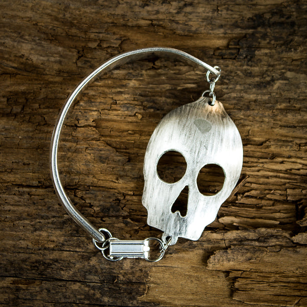 Skull Spoon Bracelet with Clasp - Original Jewelry by Kristin Ellis