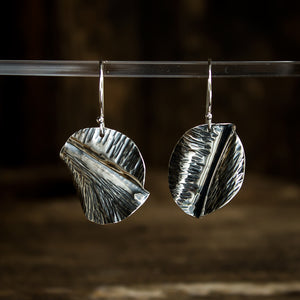 Hammered Sterling Silver Earrings #932 - Original Jewelry by Kristin Ellis