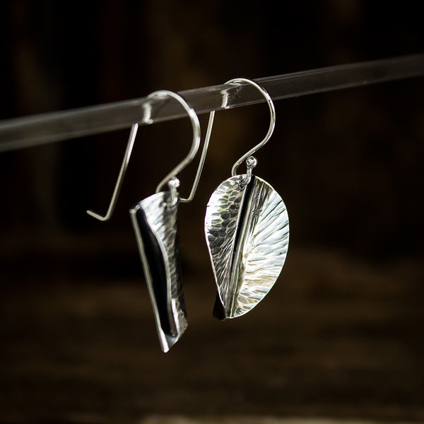 Hammered Sterling Silver Earrings #946 - Original Jewelry by Kristin Ellis