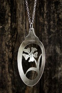 Wildflower Spoon Necklace - Original Jewelry by Kristin Ellis