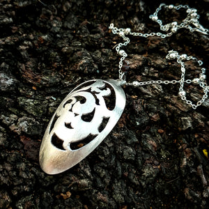Scrollwork Spoon Necklace - Original Jewelry by Kristin Ellis