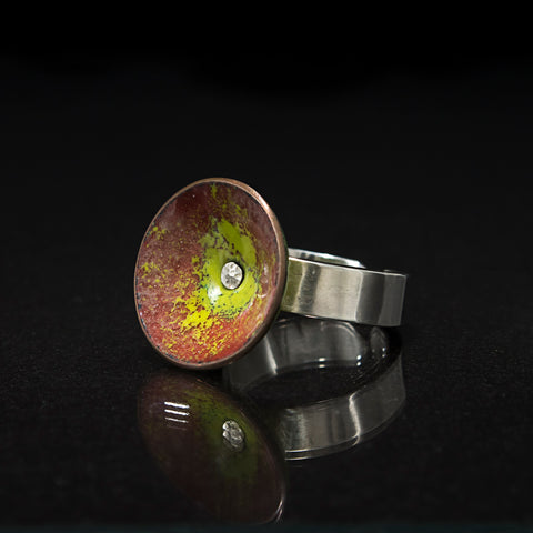 Chartreuse Fairy Cup Cocktail Ring - Original Jewelry by Kristin Ellis