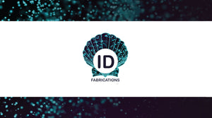 ID Fabrications logo on sparkle shell background