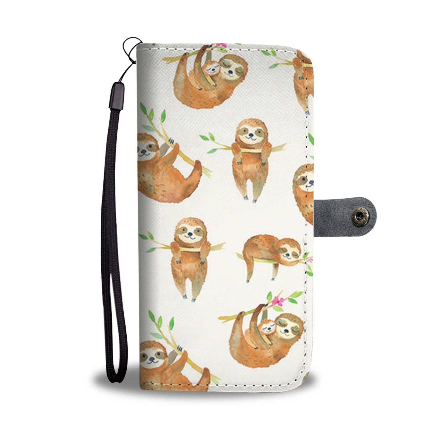 size 40 bac69 dcb18 Sloth Watercolor Wallet Phone Case