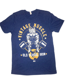"Vintage Muscle ""Dragonslayer"" Tee - Weathered Blue"