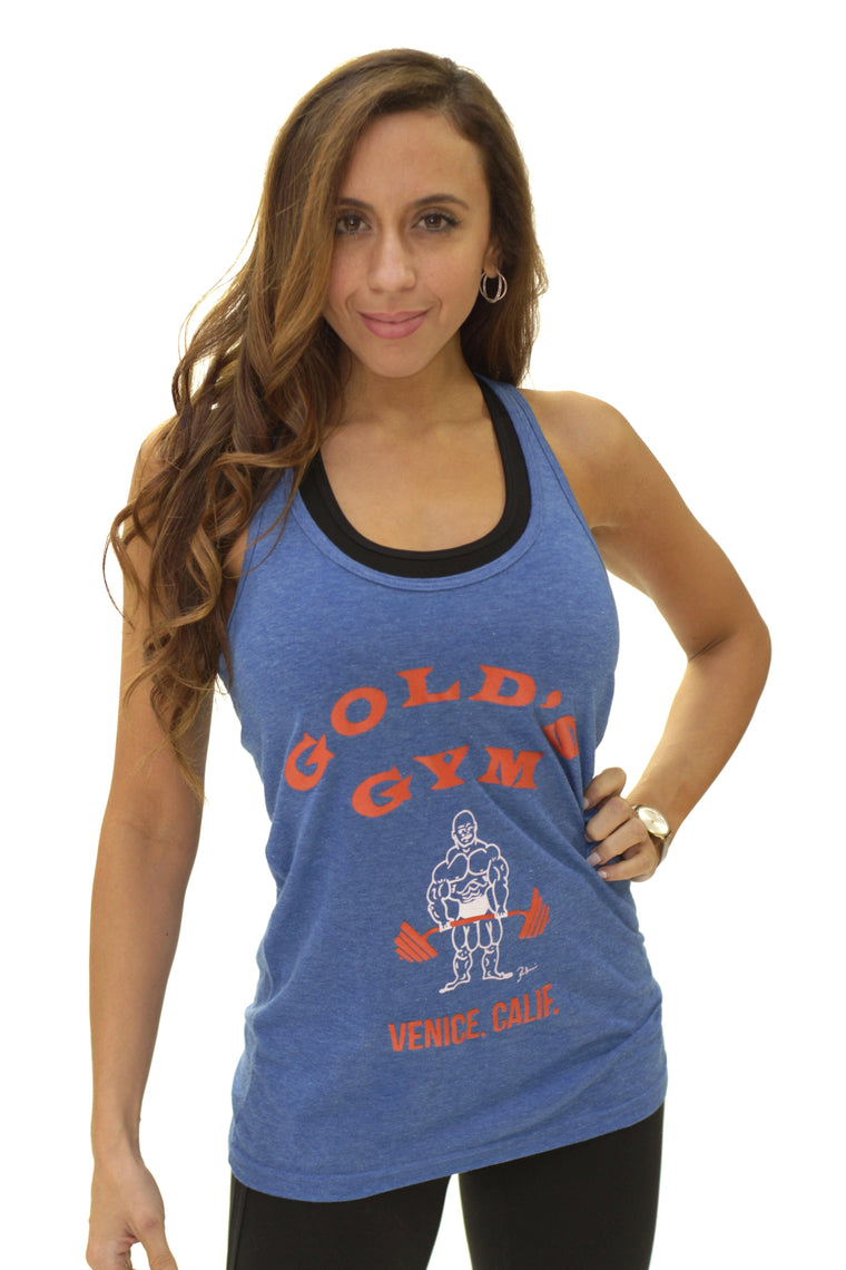 Original Golds Gym Rock & Retro Racerback Tank – Royal Heather