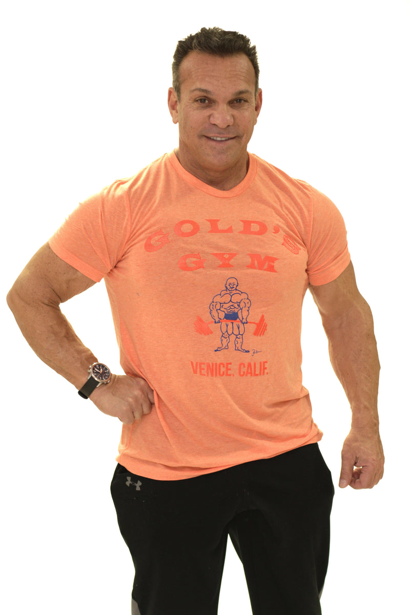 OG Golds Gym T-Shirt – Original Orange - Vintage Muscle