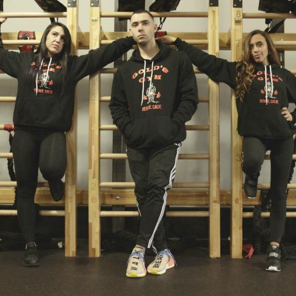 OG Golds Gym Hardcore Hoodie – Black - Vintage Muscle