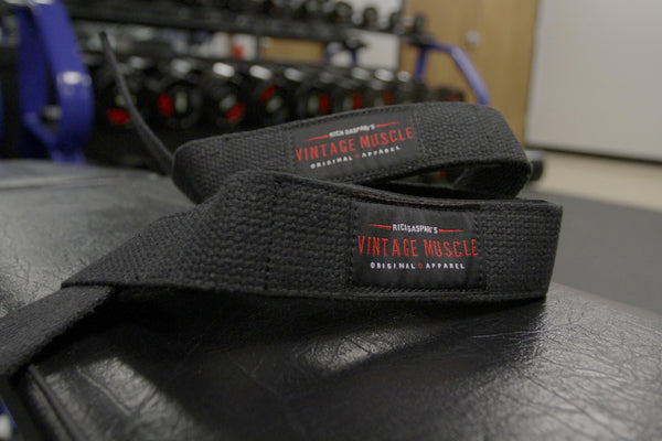Vintage Iron Grip Lifting Straps - Vintage Muscle