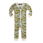 milkbarn bamboo zipper pajama in blue fish