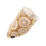 milkbarn organic kerchief bib in grapefruit