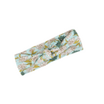 milkbarn bamboo headband in blue floral
