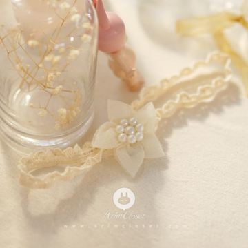 arim closet pure flower+pearl headband
