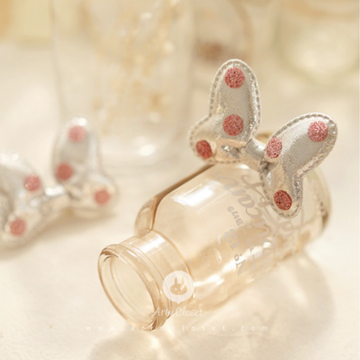 arim closet silver and pink dot hairclip