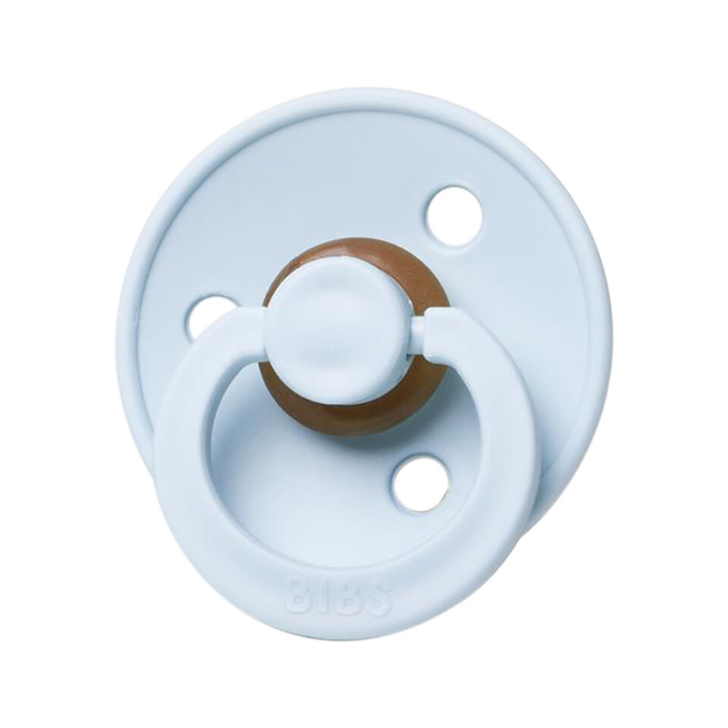 BIBS classic round pacifier, baby blue