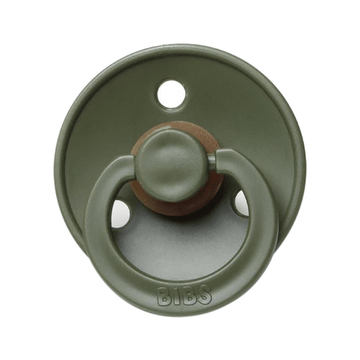 BIBS classic round pacifier, hunter green