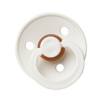 BIBS classic round pacifier, ivory