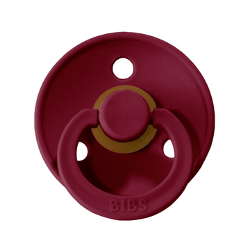 BIBS classic round pacifier, ruby