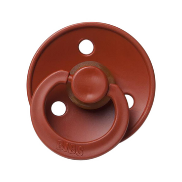 BIBS classic round pacifier, rust