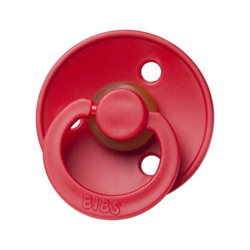 BIBS classic round pacifier, strawberry