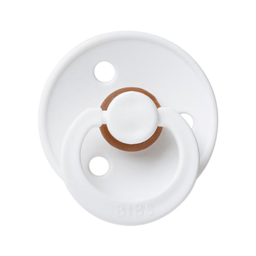 BIBS classic round pacifier, white
