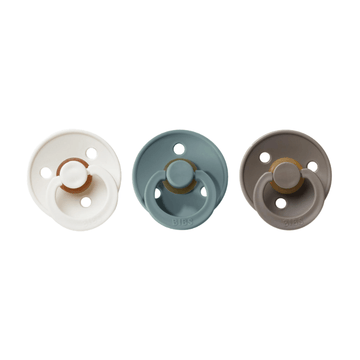 BIBS classic round pacifier set of three earth  Edit alt text