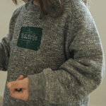 stamp sweatshirt in charcoal