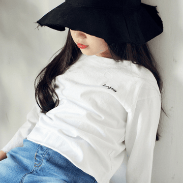bonjour long-sleeve tee for toddler girl