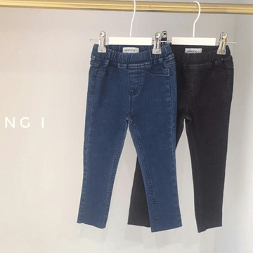 denim skinny pants (4-5y + 5-6y)