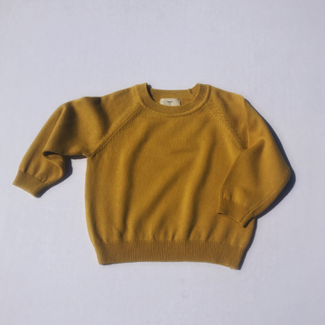 cos knit sweater in mustard