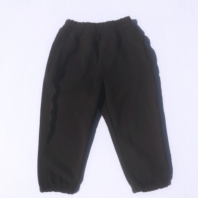 jogger pants in brown