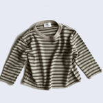 stripe knit sweater in khaki