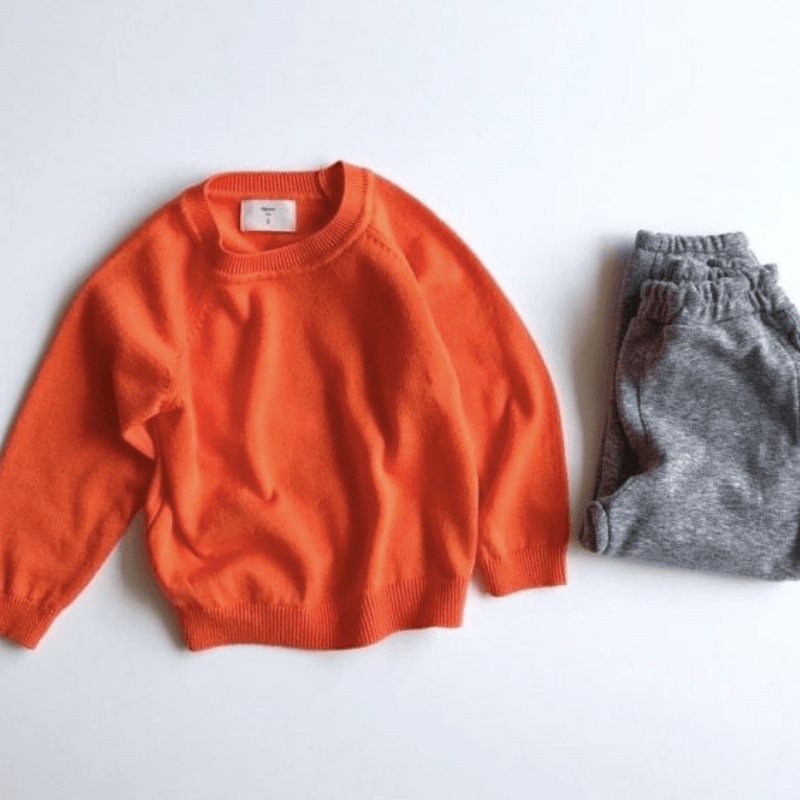 cos knit sweater, orange