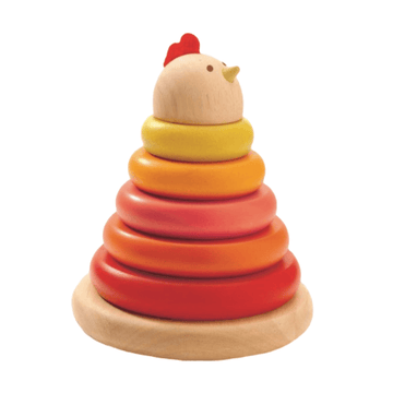 djeco cachempil hen wooden stacker game