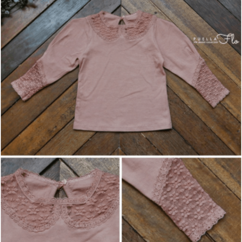 rococo tee in pink